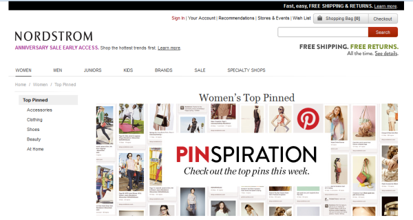 Pinterest and Retail Stores